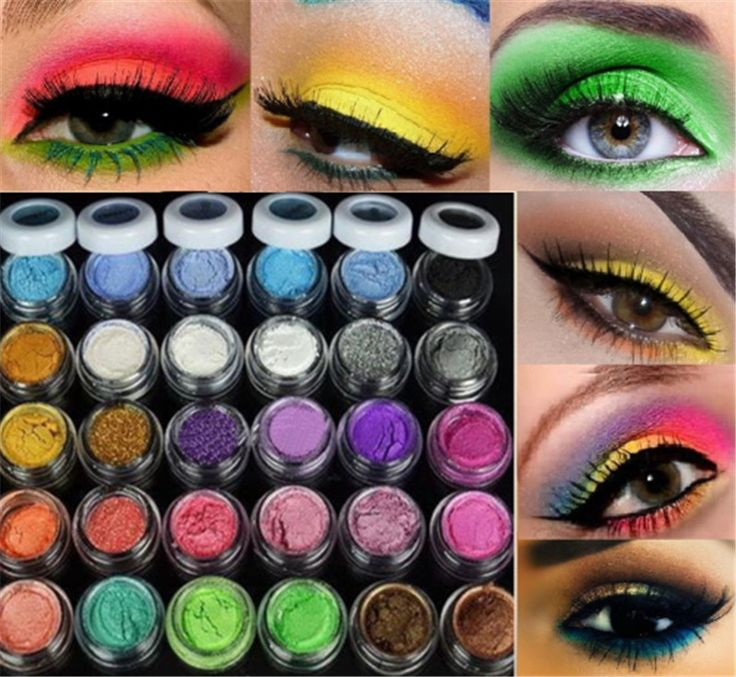 30 Mixed Colors maquiagem Glitter Shimmer Mineral Eyeshadow Makeup Full Size eye shadow