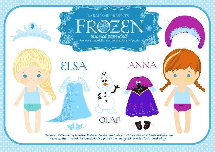 Free Frozen Paper Dolls