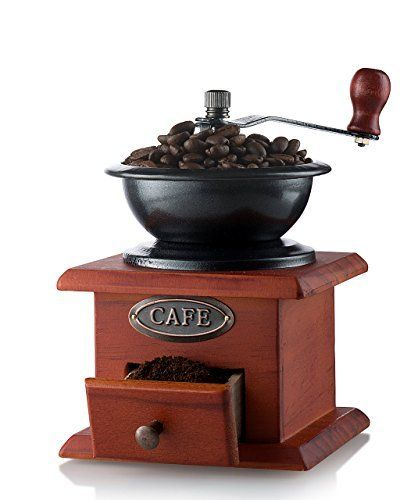 Awaken old world charm with a hand crank coffee grinder! Master professional-quality coffee grounds from the comfort of home with the Coffee Grinder by Gourmia. This artfully desig