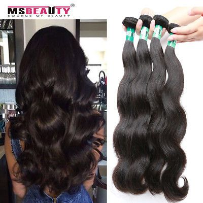 Brazilian Body Wave Virgin Remy Hair 4Bundles Human Hair Weave Extensions 400g