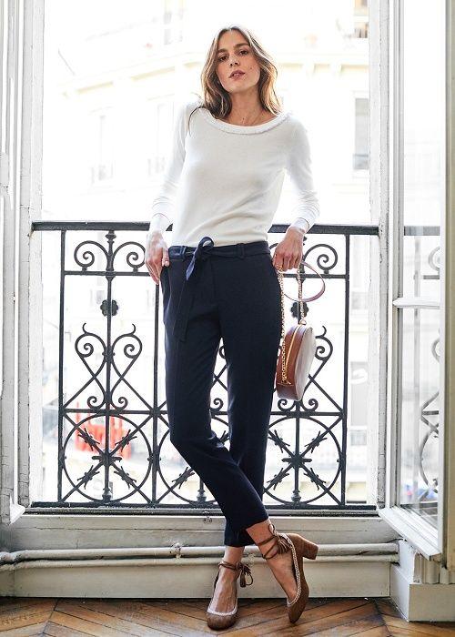 L'amour fou - Capsule Février  Sac Dean, Babies Valentina, pull Céara et pantalon Havy www.sezane.com #sezane #lamourfou #fevrier