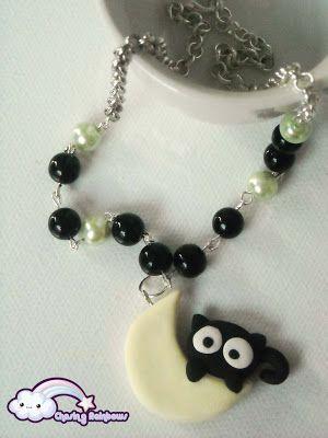 Collezione Halloween Kawaii Special - Collana Snooping from the moon #kawaii #cute #sweet #handmade #jewels