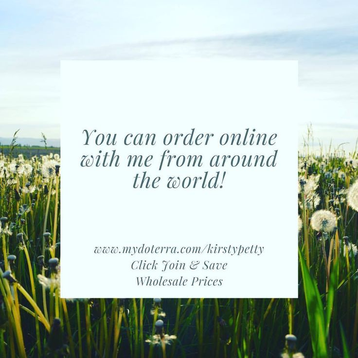 How to order dōTERRA??  You can order online with me from around the world ...    To join and buy at Wholesale prices, simply ...    Step 1:  Click the link or go to www.mydoterra.com/kirstypetty  Step 2:  Click 'Join & Save'    Step 3:  Choose 'Wholesale Prices'    Step 4:  Fill in your details    Step 5:  Choose your Enrolment Kit or individual oils.      Enrolment Kits waive the $35 Membership Fee.    Sponsor ID: 4592176