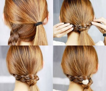 10 Easy Summer Hair Styles: Braid-Wrapped Pony. It's a basic two-step style that adds a little something extra to an ordinary low ponytail. #SelfMagazine