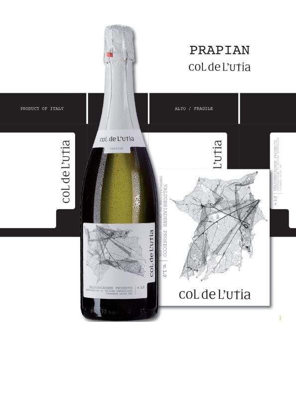 COL DE L'UTIA Prosecco docg spumante extra dry Millesimato