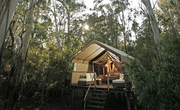 Paperbark Camp deluxe tent.  Another super swanky looking yurt.  This one is New South Whales.