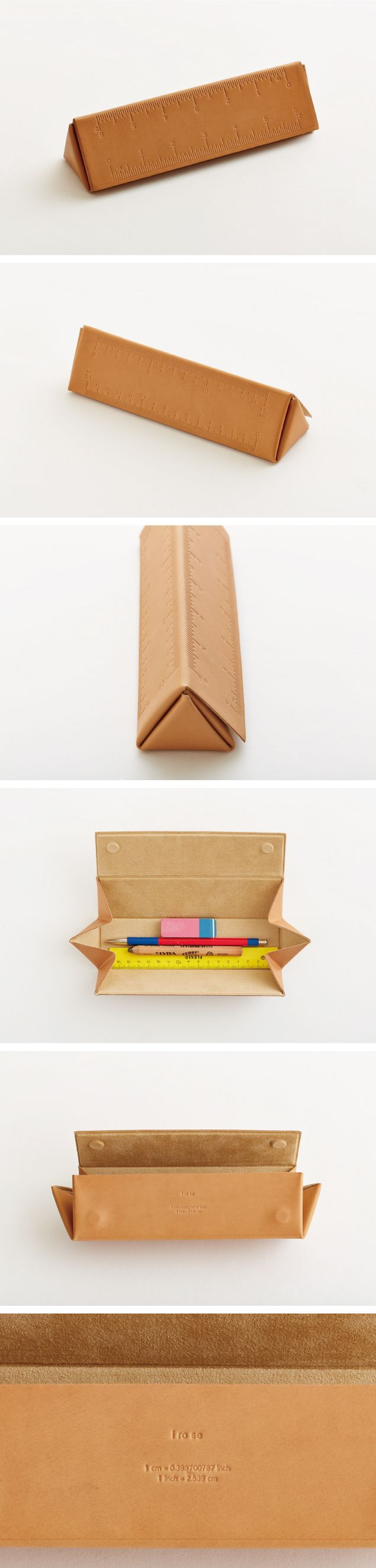 i ro se triangular scale pen case