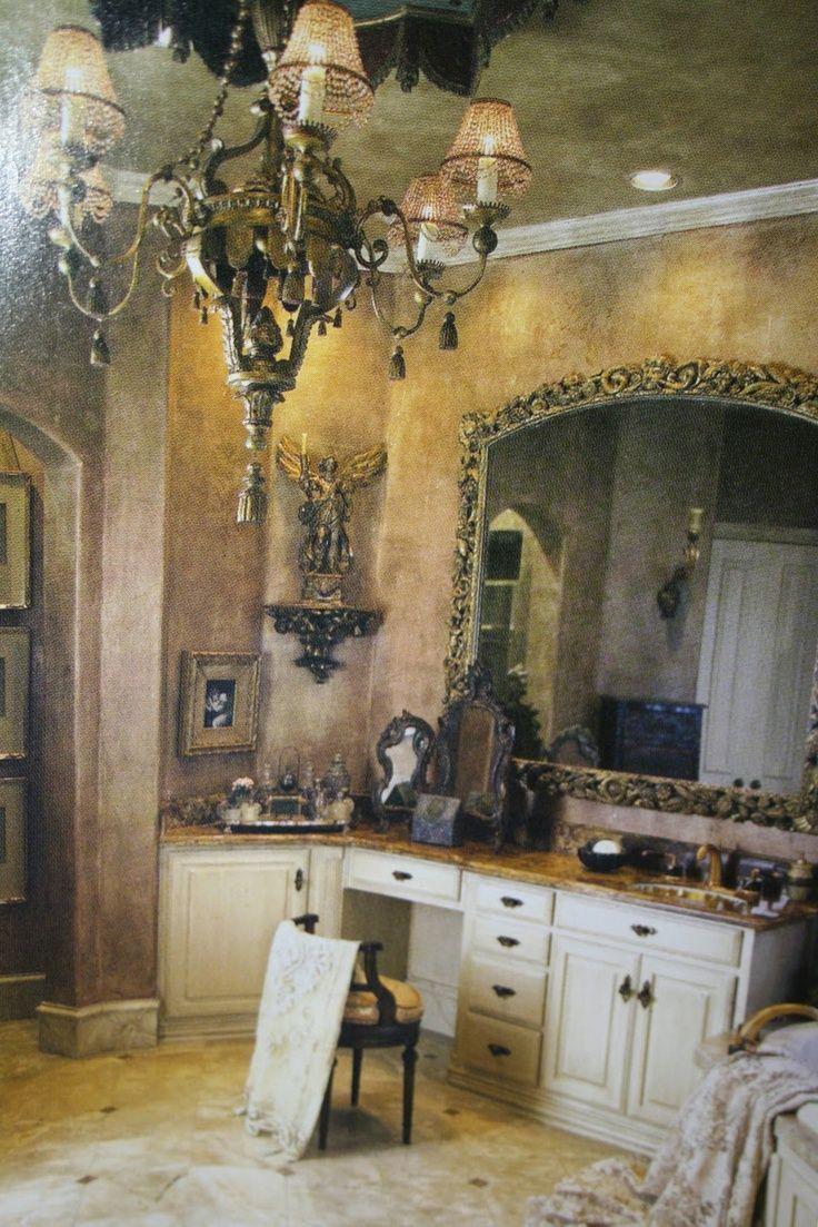 39 best tuscan designs images on pinterest haciendas home and old world romantic bath vanity image via the gilded cherub