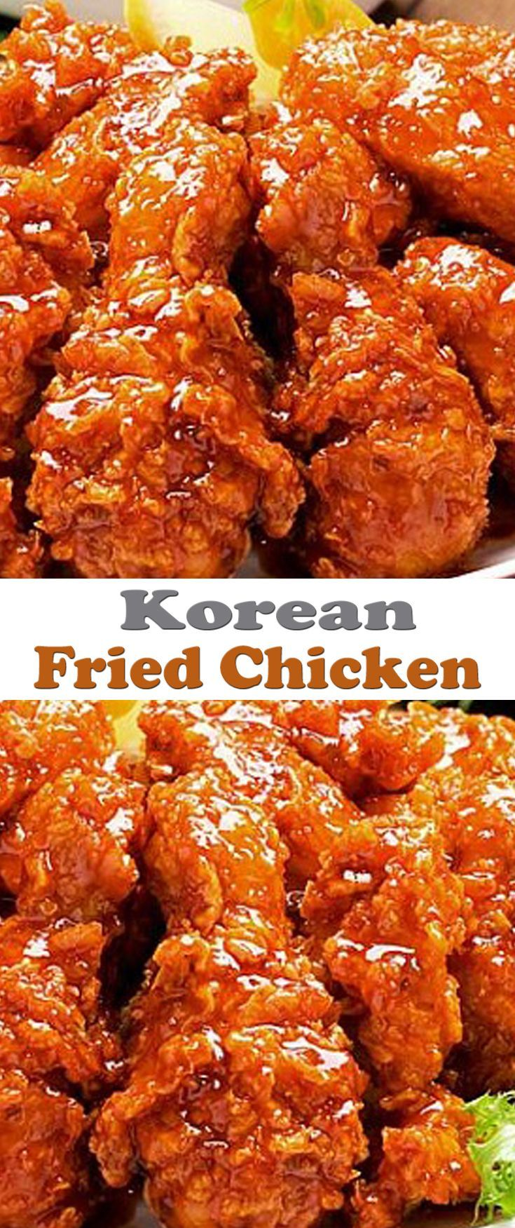 Korean Fried Chicken Recipe. #CompleteRecipes.com #recipe #recipes #food #foodgasm #cleaneating #healthyfood #healthy #healthyrecipes
