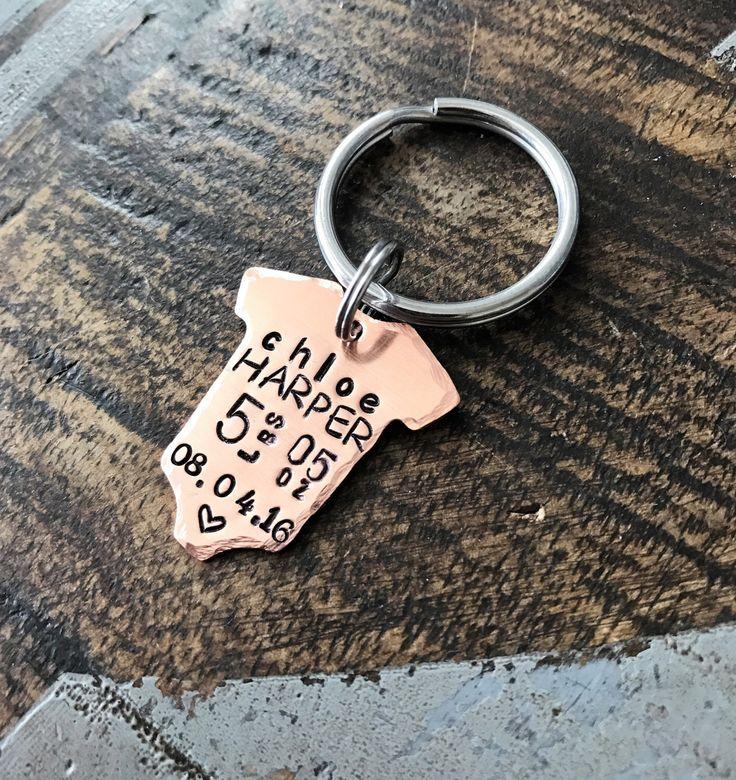 Onesie Keychain Baby Announcement Baby Statistics Keychain New Baby Gift for Dad Baby Gift for Mom Baby Weight Time Date Keepsake Baby Meme by BlueEyedJewelsTX on Etsy https://www.etsy.com/listing/490736712/onesie-keychain-baby-announcement-baby