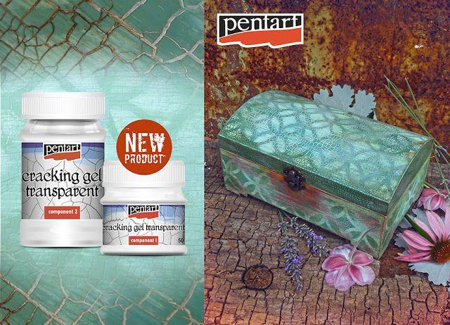 #diy #box #crackinggel #stencil #acrylicpaint #pentart