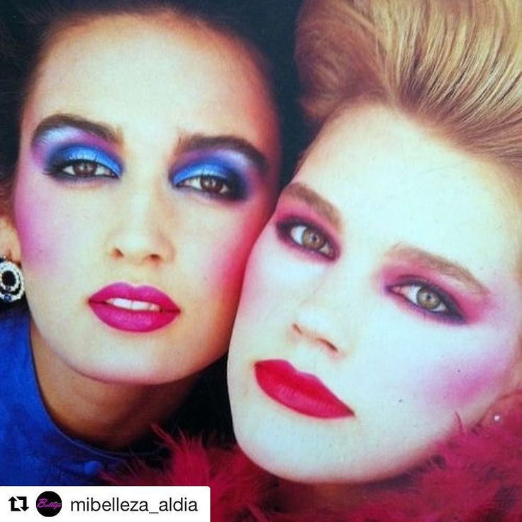 #Repost @mibelleza_aldia with @repostapp  #TBT 1980 #Makeup MAQUILLAJE AÑOS 80 Intenso marcado y brillante. Maquillaje de color flúor y cejas muy bien definidas. El blush muy marcado en los pómulos y en los labios destacaban los fucsias malvas naranjas y los clásicos rojos. #Maquillaje #Trend #look #style #80s #makeuplover #beauty #color #lips #Bellezaaldia