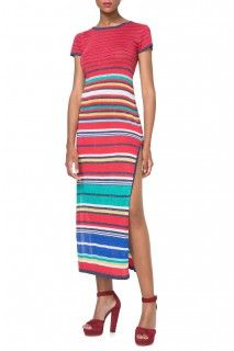 Desigual pruhované dlouhé šaty Alabama - 2144 Kč