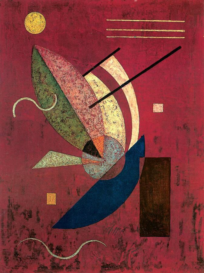 Vasily Kandinsky, Schwarzes Stäbchen 1928, Private collection
