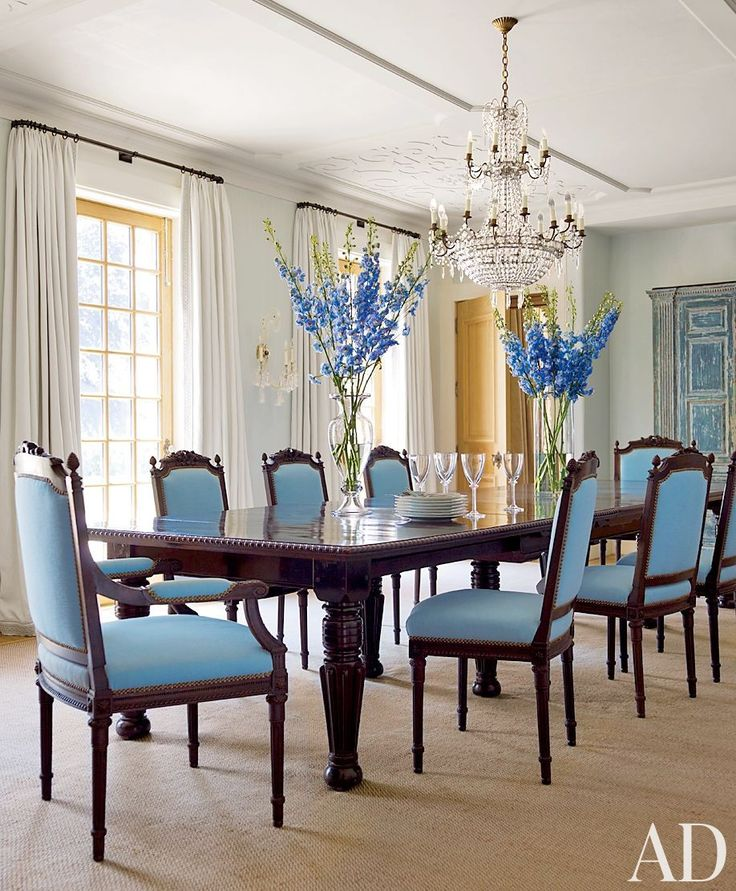 The Shyamalans Purchased Dining Table And Chairs In South Africa Upholstered Latter A Duralee Fabric