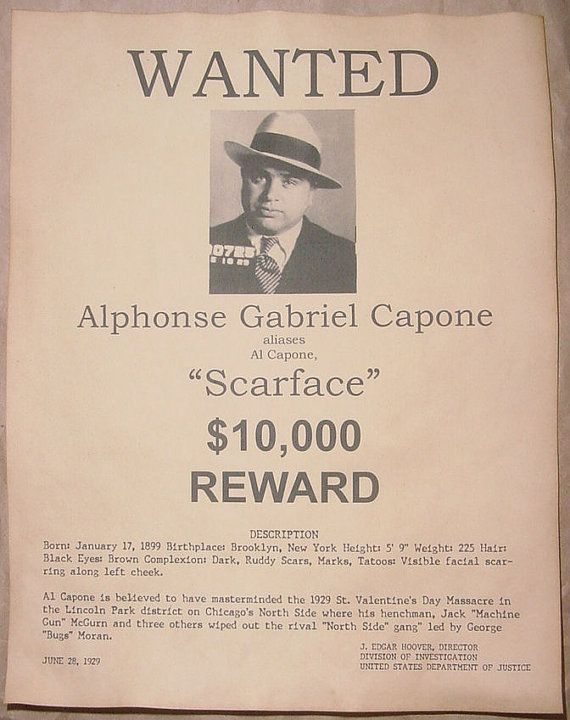 al capone paper Browse through possible prompts and ideas for your al capone research paper and choose the al capone research paper topic right for you.