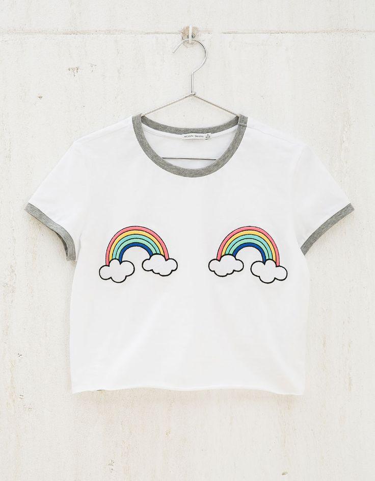 Camiseta parches Unicorns/Bananas/Rainbows - Estampadas - Bershka España
