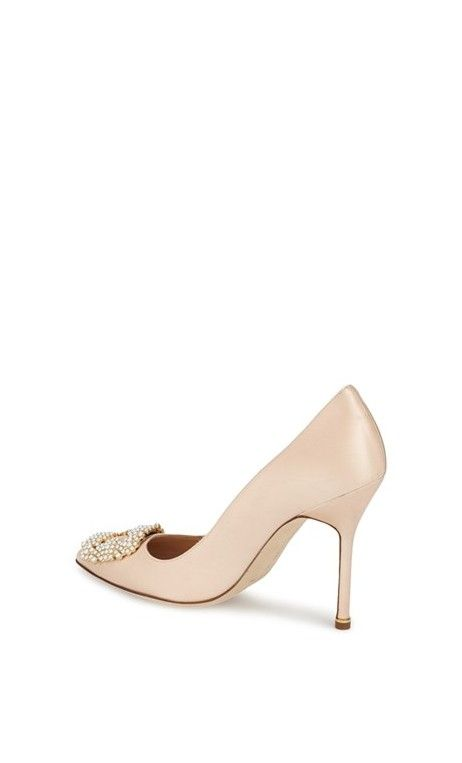 Manolo Blahnik Hangisi Bead Embellished Pump #ss16 #outfit