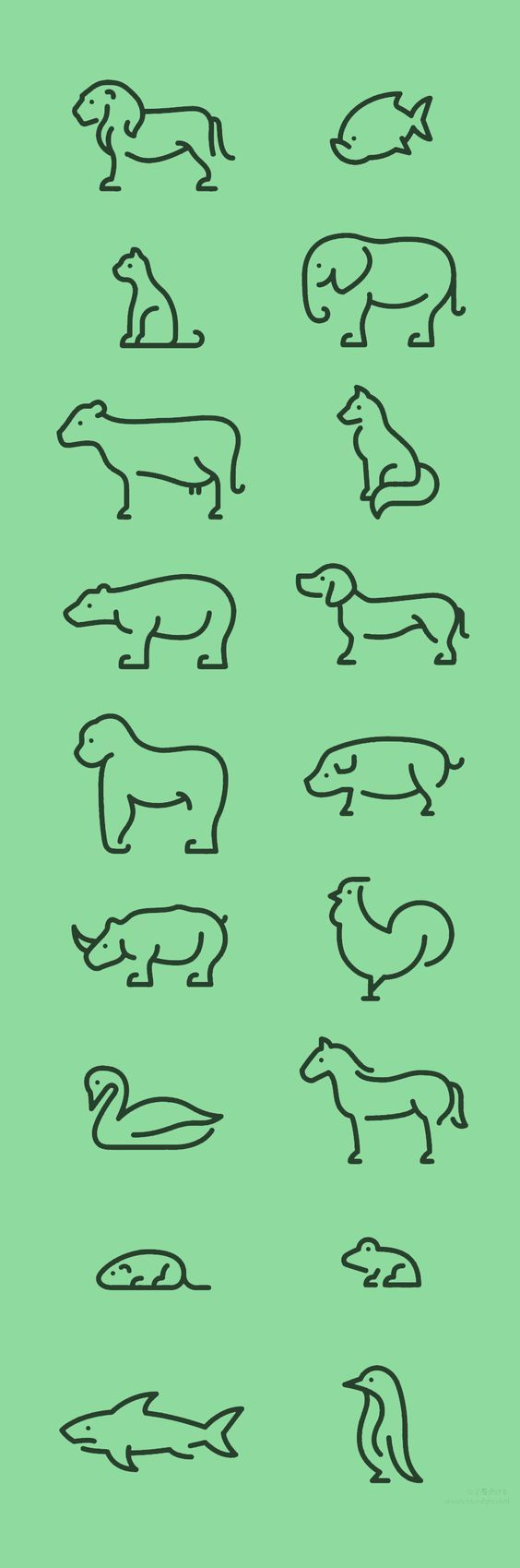 animals, little tattoo idea: