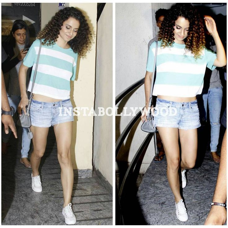 Kangana Ranaut looking all chic coming out of PVR