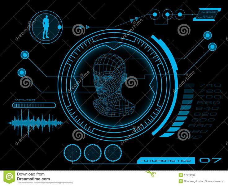 Interface Utilisateurs Futuriste HUD Images stock - Image: 37279394