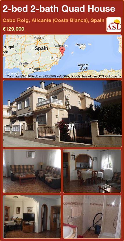 2-bed 2-bath Quad House in Cabo Roig, Alicante (Costa Blanca), Spain ►€129,000 #PropertyForSaleInSpain