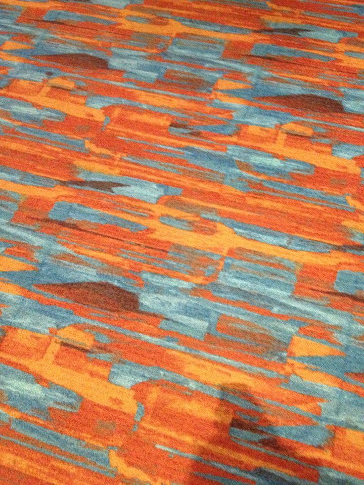 Funky carpet at the casino. Also a doggie cash slot machine.