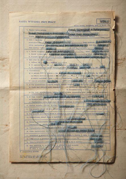 Ambiguous Documents - #fiber #fibre #text #paper #thread #art