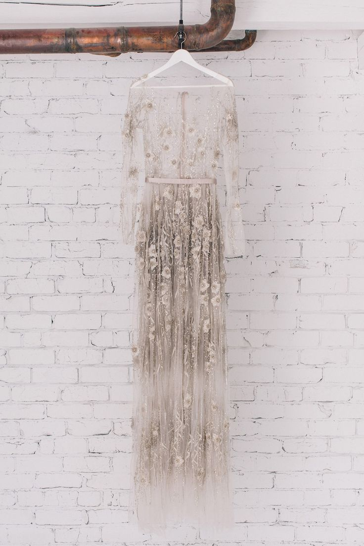 Dream embellishment, maybe not as grey though...still want the dress to look white (off white)