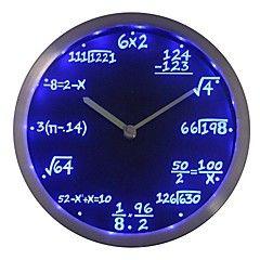 cadeau nc0461 classe de maths Algèbre Formule professeur de mathématiques au néon Horloge murale LED
