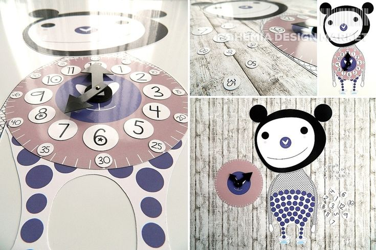 >>Clock - by FU.FO<< Enjoy Uniqueness & Quality of Czech Design http://en.bohemia-design-market.com/designer/fu-fo #czech #design #clock #for #your #kids #creative #way #to #play #made #with #love #in #the #czechrepublic #bohemiadesignmarket
