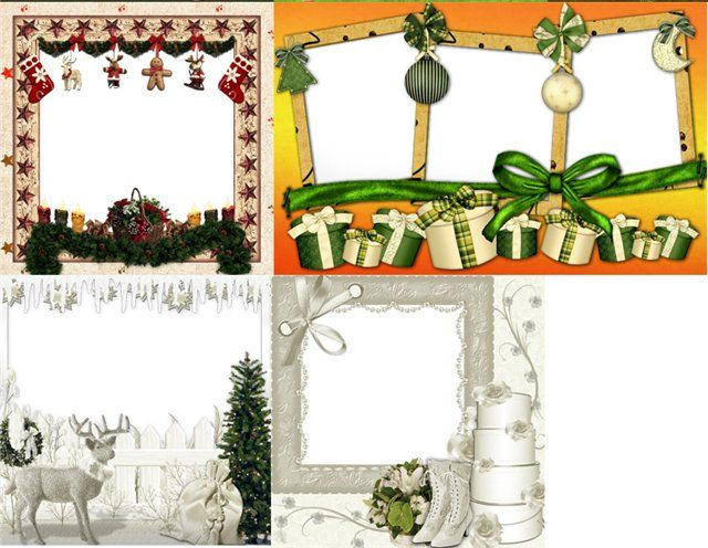 Merry christmas frames png new year christmas frames for Picture frame templates for photoshop