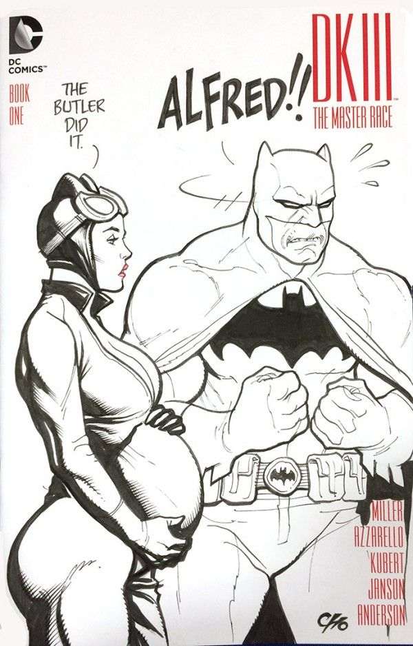 As sketched by Frank Cho at South Carolina Comic Con... not even room on the cover for outrage...