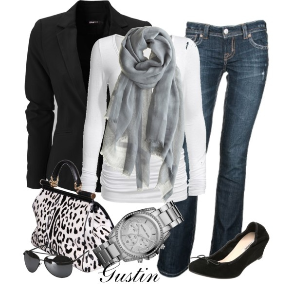 black and white animal print, created by gustinz.polyvore.com