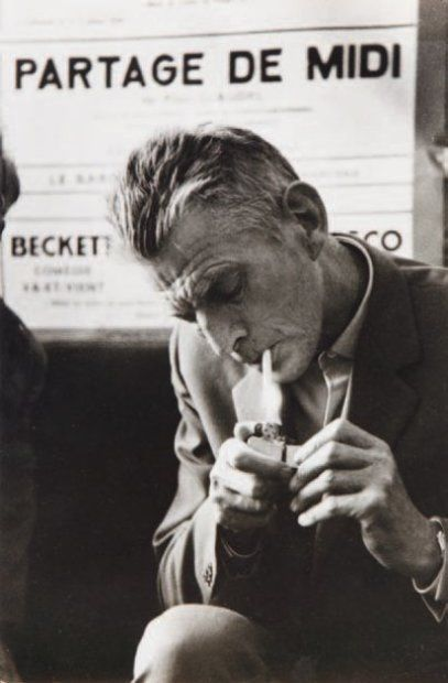 Samuel Beckett by Guy Suignard, 1969.