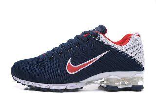 800e823c1542 Mens Nike Air Shox Running Shoes Dark blue white red