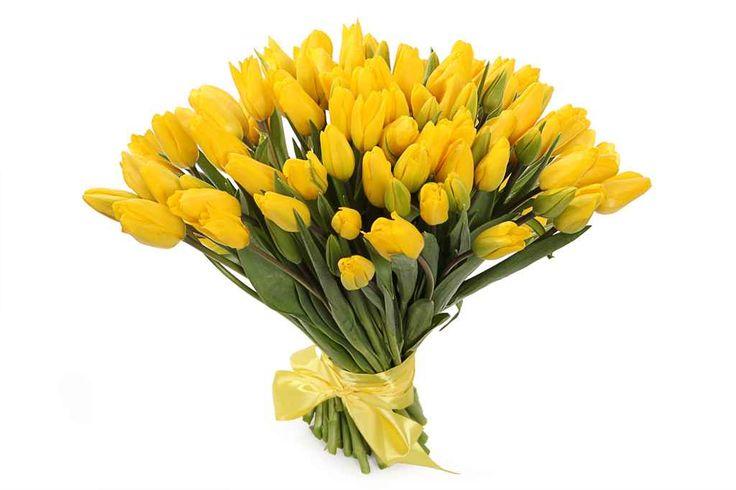 удивительный Букет 101 тюльпан, желтые  #Букеты #Оригинальныебукеты,Букет101тюльпан,желтые