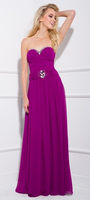 2013 Prom Dresses - Lilac Strapless Chiffon Prom Gown