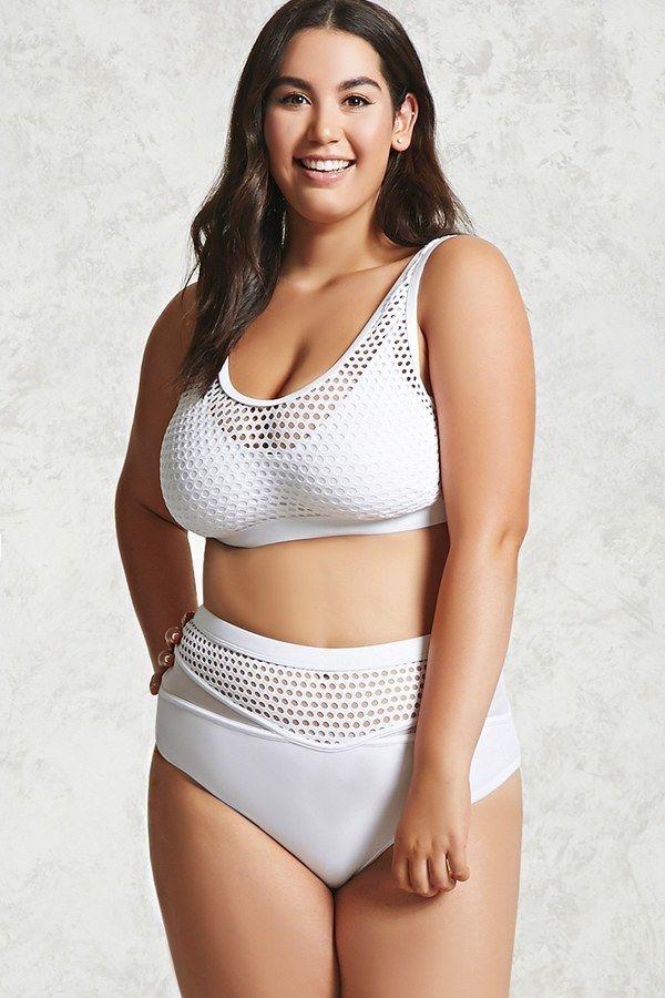 Plus Size Mesh Bikini Swimsuit