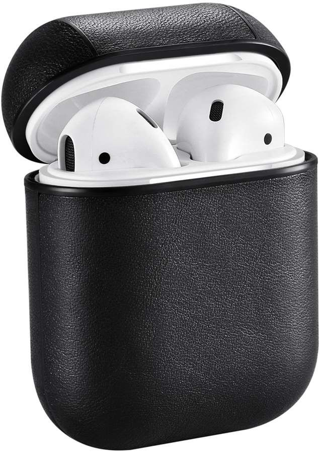 Posh Tech Leather Case For Apple Airpods Black Hautelook Earbuds Case Leather Case Earbuds