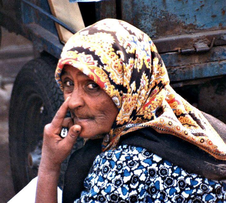 Woman in Monastiraki flea market (1990)