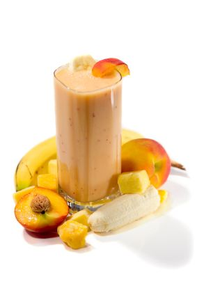 Mango-Banana Smoothie.  I love these after a P90X workout.