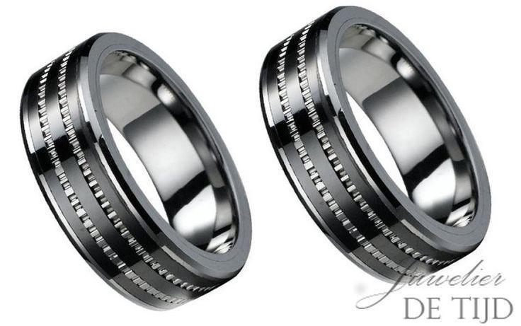 Wolfraam trouwringen 8mm breed-Juwelier de Tijd | Persoonlijk advies over trouwringen, sieraden en taxaties