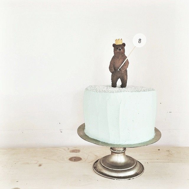 birthday bear cake topper