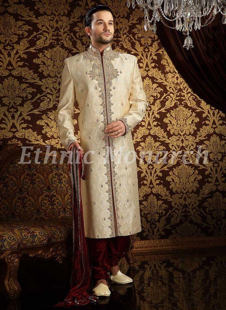 Exclusive Off White Sherwani