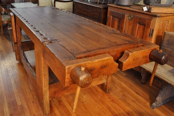 Woodworkers Workbenches For Sale | large woodworker's bench | Mercato Antiques | Direct Importers of ...