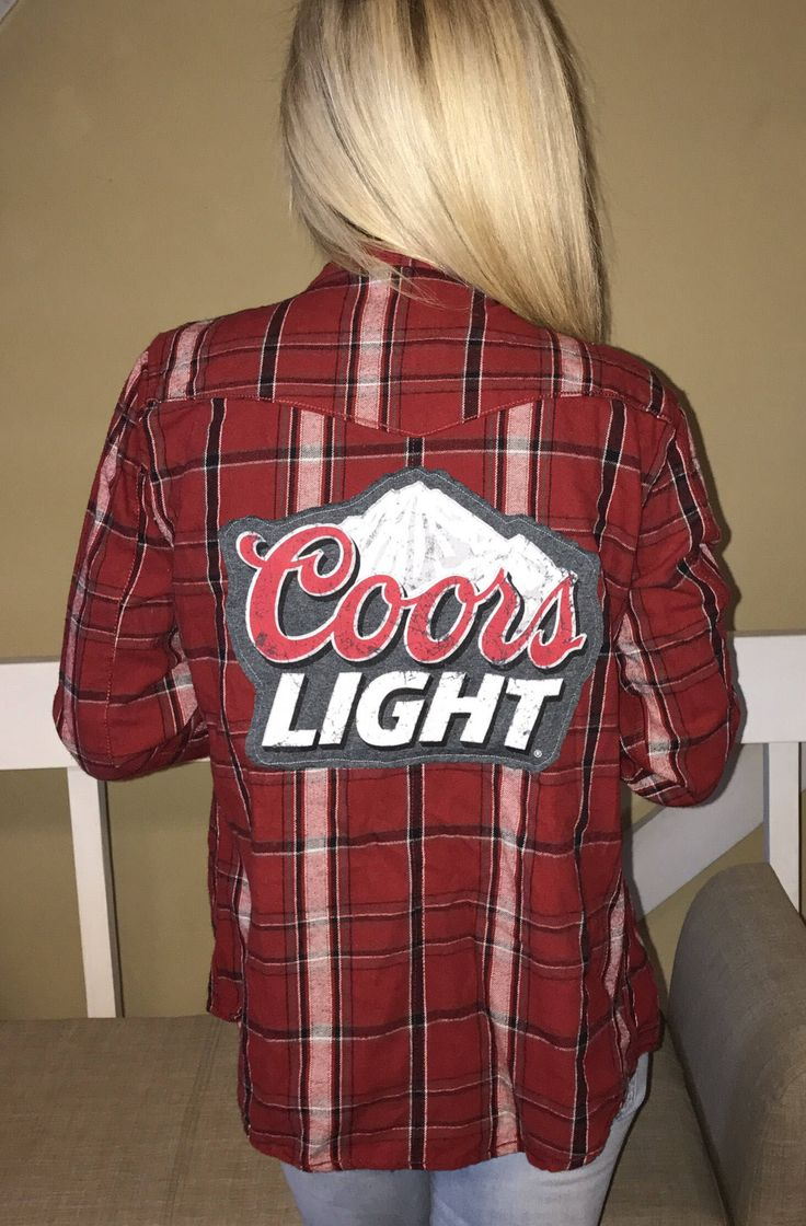 A personal favorite from my Etsy shop https://www.etsy.com/listing/521817744/coors-light-beer-plaid-flannel-combo
