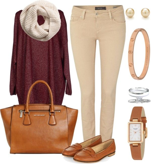 Outfit Blusa Rojo Vino