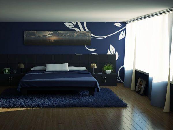 dark blue bedroom | Dark Blue