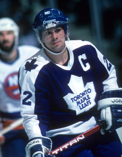 The Leafs first 50 goal scorer Rick Vaive